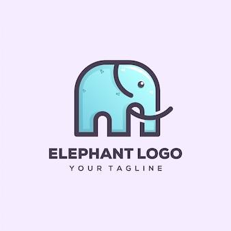 Projekt logo słonia