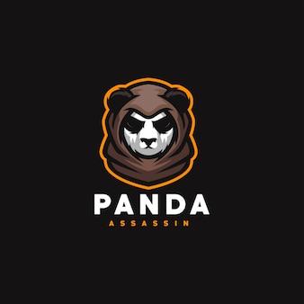Projekt logo sportowego panda do gier