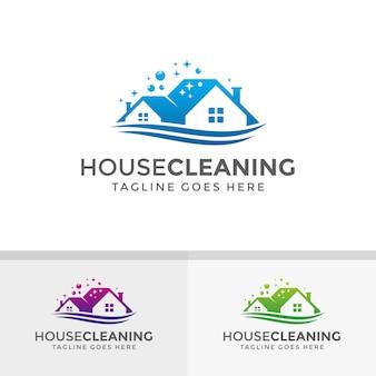 Projekt logo sprzątanie domu