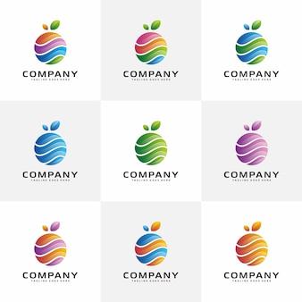 Projekt logo streszczenie owoców