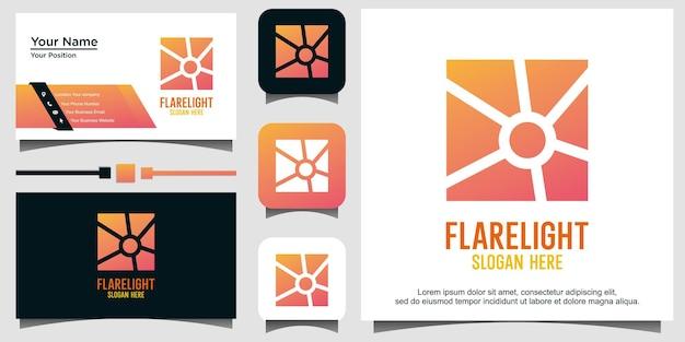 Projekt logo światła flary