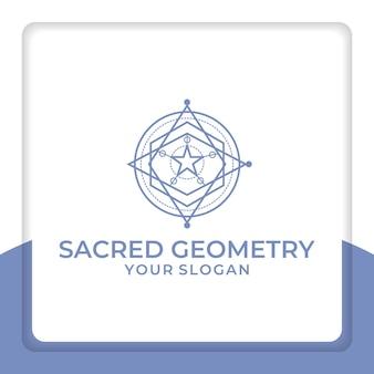 Projekt logo świętej geometrii dla osób religijnych