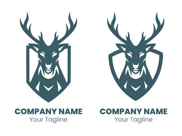 Projekt logo sylwetka głowy jelenia