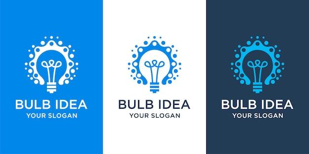 Projekt logo technologii żarówki