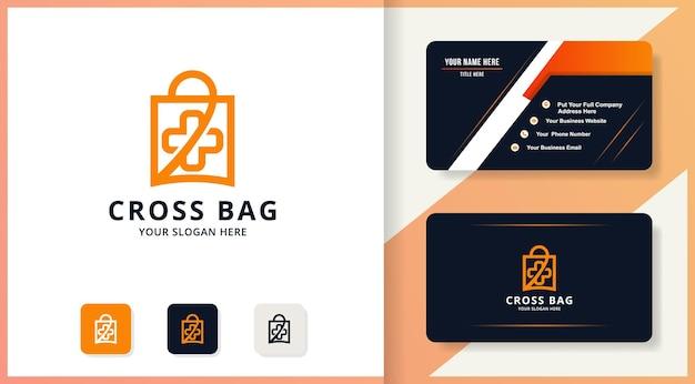 Projekt logo torby krzyżowej, logo inspiracji dla apteki lub apteki szpitalnej