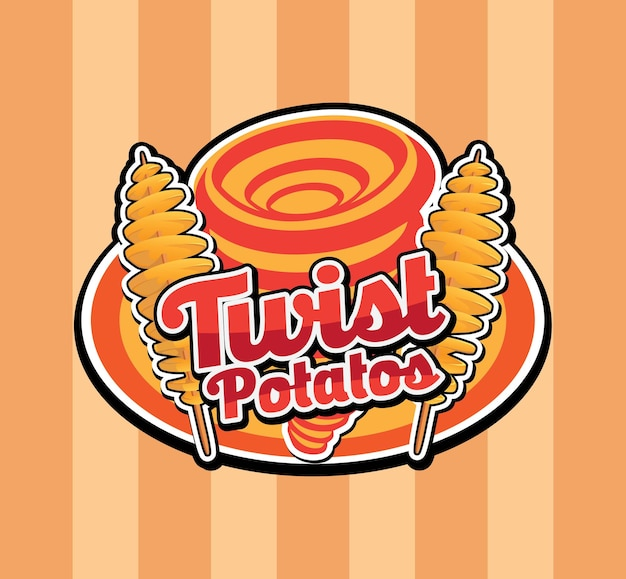 Projekt logo tornado twist spiral potato