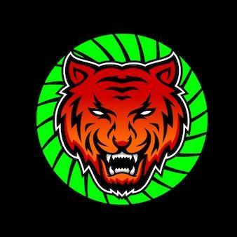 Projekt logo tygrysa na białym tle premium wektor