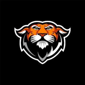 Projekt logo tygrysa z wektorem