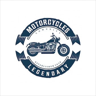 Projekt logo vintage motocykl