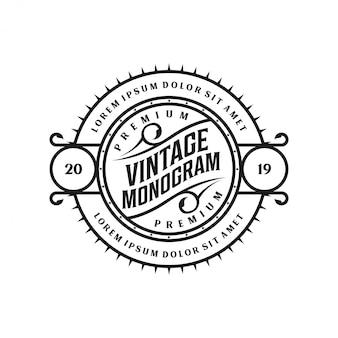 Projekt logo w stylu vintage do różnych celów