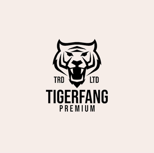 Projekt logo wektor głowy tygrysa premium
