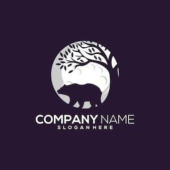 Projekt logo wektor niedźwiedź