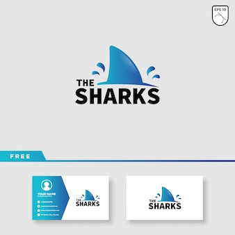 Projekt logo wektor rekin