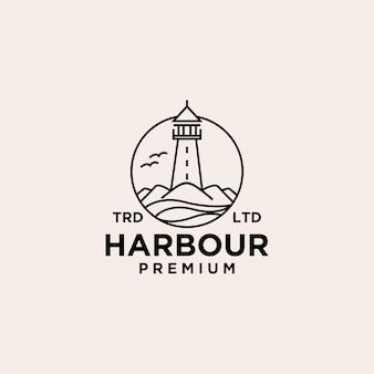 Projekt logo wektorowego portu premium