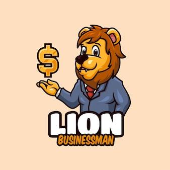 Projekt logo z kreskówki lwa