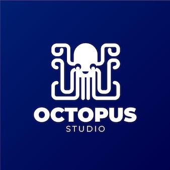 Projekt logo z ośmiornicą
