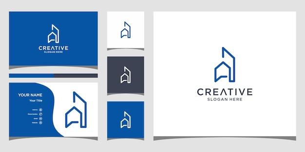 Projekt logo z szablonem wizytówki