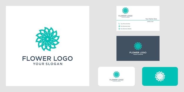 Projekt logo zajęć jogi wykonany z liści i kwiatów o prostych liniach