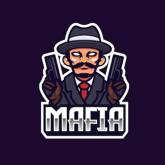 Projekt logo zespołu e-sport gangstera mafii