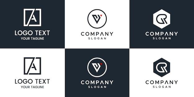 Projekt logo zestaw liter