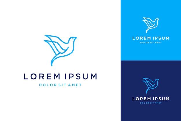 Projekt logo zwierzę lub abstrakcyjny ptak z grafiką line