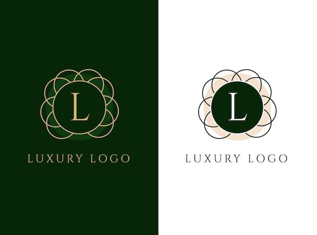 Projekt luksusowego logo z literą l.