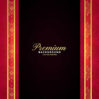 Projekt luksusowy szablon wektor premium
