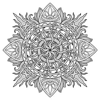 Projekt mandali do kolorowania