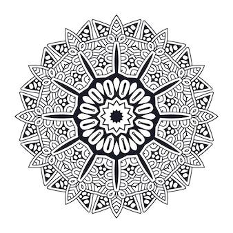 Projekt mandali na białym tle