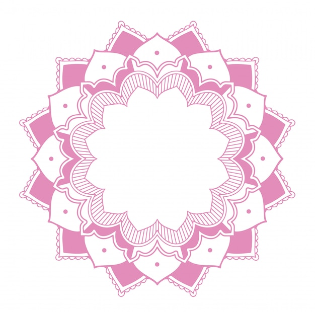 Projekt mandali w kolorze różowym