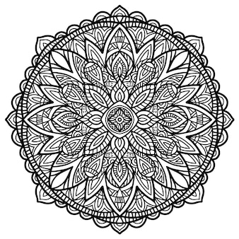 Projekt mandali wektor do druku. tribal ornament.