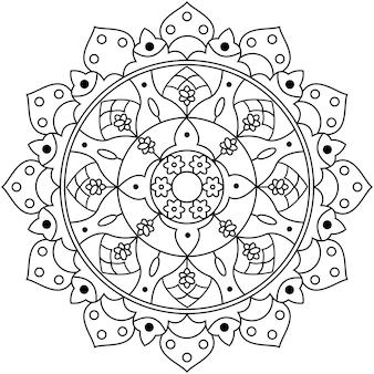 Projekt mandali wektor wzór sztuki