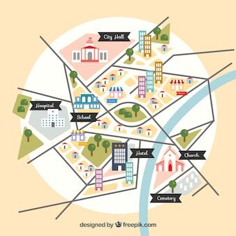 Projekt mapy centrum miasta