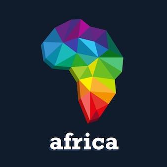 Projekt mapy kolorów. trójkąt kolorowy kontynent