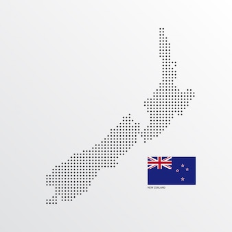 Projekt mapy nowej zelandii