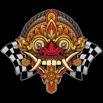 Projekt maski balijskiej rangdy