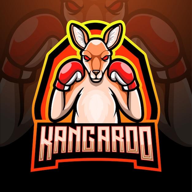 Projekt maskotka logo kangur esport