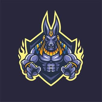 Projekt maskotki anubis logo esport