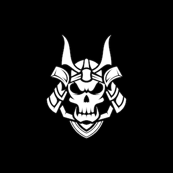 Projekt maskotki czaszki samuraja