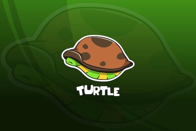 Projekt maskotki e-sport żółwia. spanie