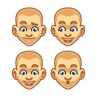 Projekt maskotki ekspresji twarzy