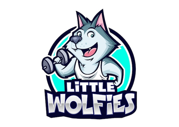 Projekt maskotki little wolfies