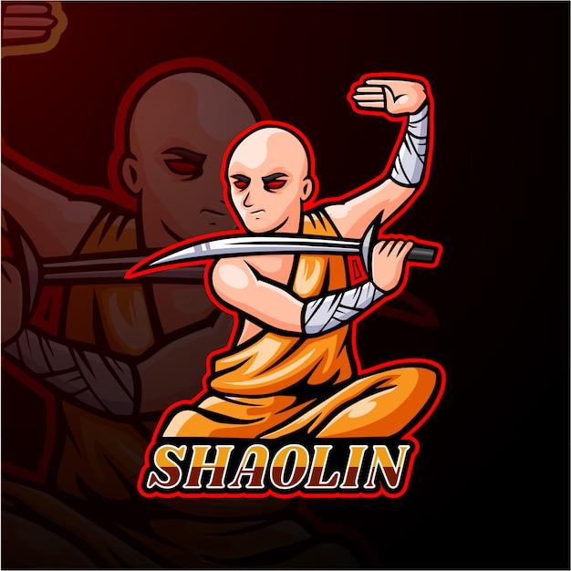 Projekt maskotki logo shaolin esport