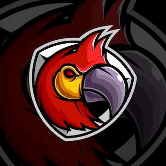Projekt maskotki papugi