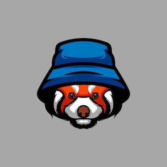 Projekt maskotki red panda hat