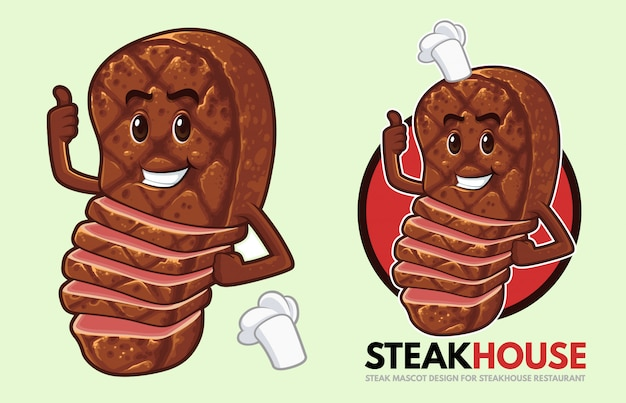 Projekt maskotki stek dla steakhouse
