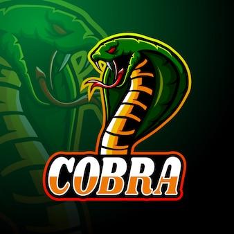 Projekt maskotki z logo e-sportu cobra