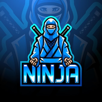 Projekt maskotki z logo esport ninja