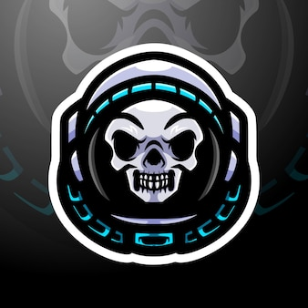 Projekt maskotki z logo esport spaceman