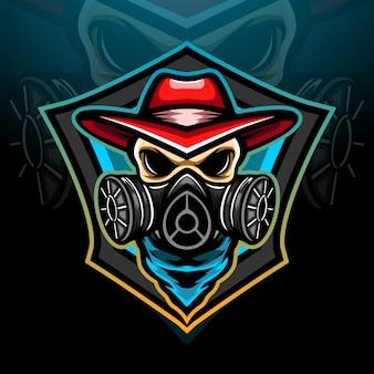 Projekt maskotki z logo toksycznego esportu